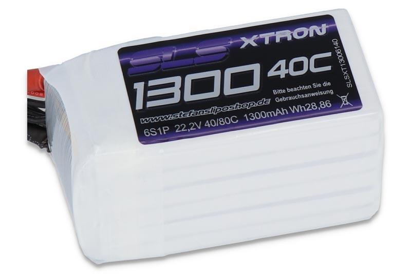 XTRON LiPO Akku 1300mAh 6S1P 22,2V 40C/80C mit XT60