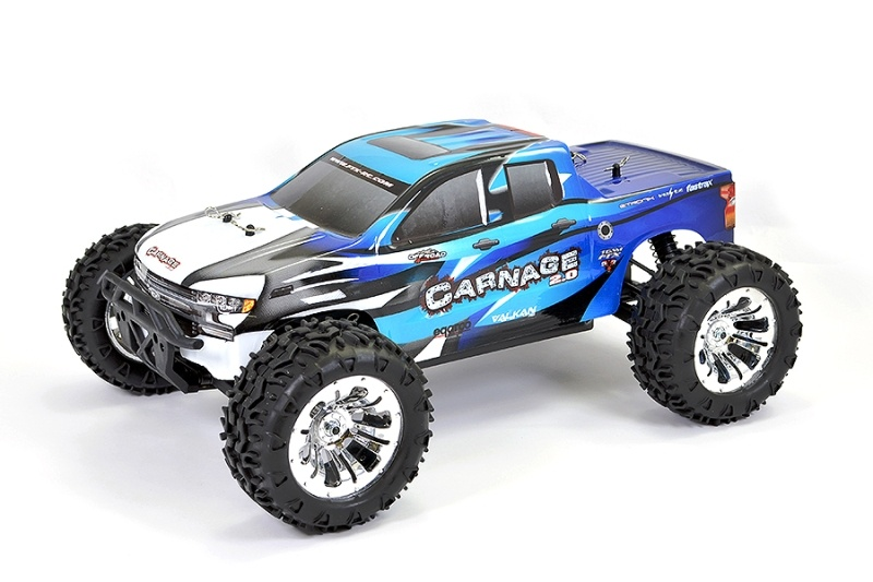 Carnage 2.0 4WD Brushed Truck 1:10 RTR blau