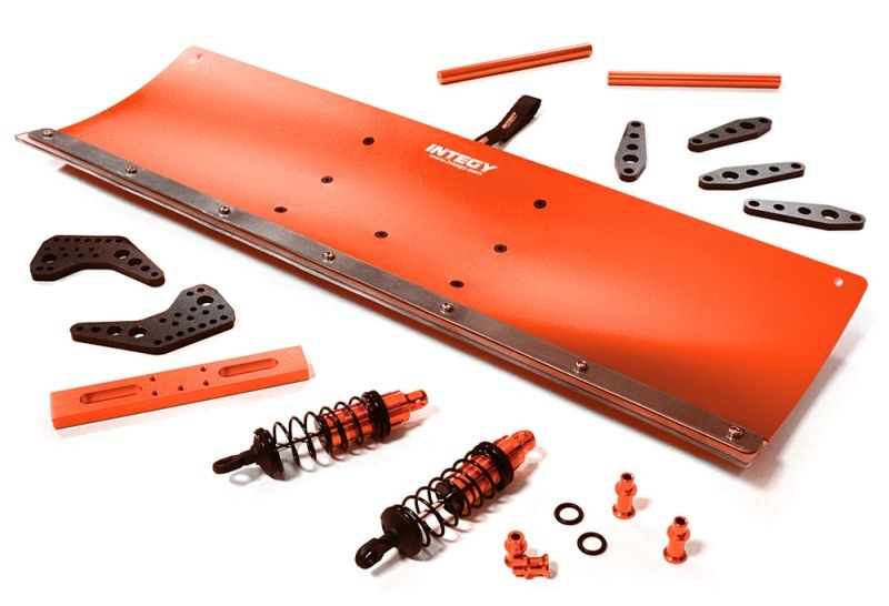 CNC Aluminium Schneeschieber Kit 400mm für TRX-4 (rot)