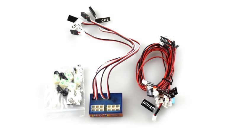 Smart LED Lichtsystem II mit Kontrolleinheit für RC Cars