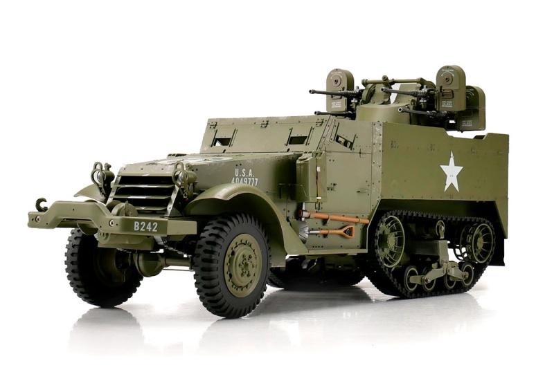 RC Halbkettenfahrzeug M16 1:16 mit Licht und Sound RTR