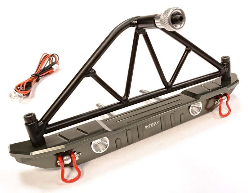 Realistic Metal Rammschutz hinten mit Ersatzrad-Halter & LED