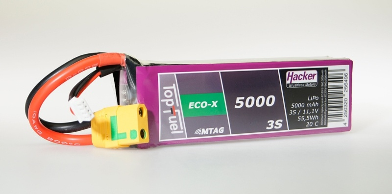 TopFuel LiPo Akku 20C ECO-X 5000mAh 3S MTAG, XT90