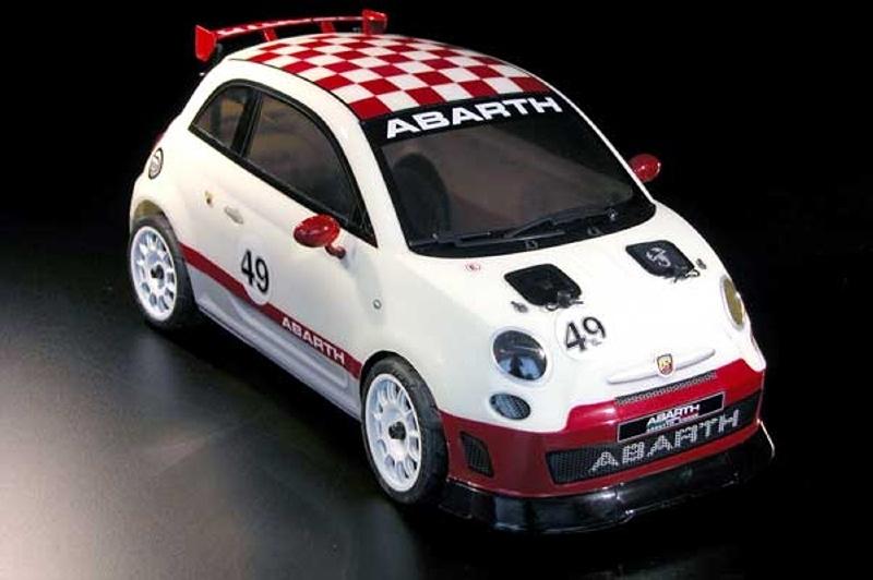 Abarth 500 1/10 Tourenwagen Karosserie (klar) inkl. Dekor