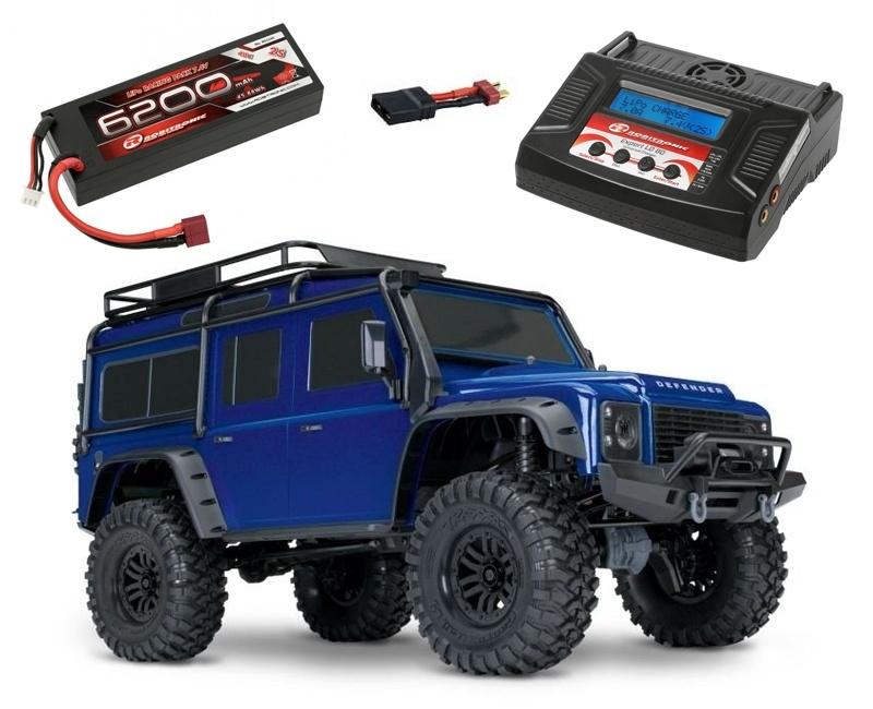 TRX-4 Land Rover Defender Crawler blau RTR +6200 LiPo +Lader