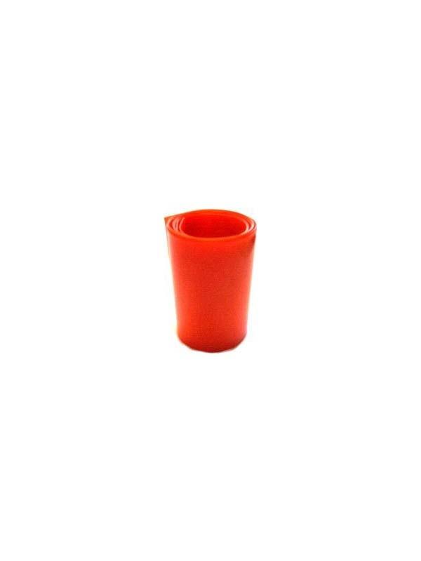 Schrumpfschlauch rot transp., 25 mm flach, ø 17 mm, 1 m