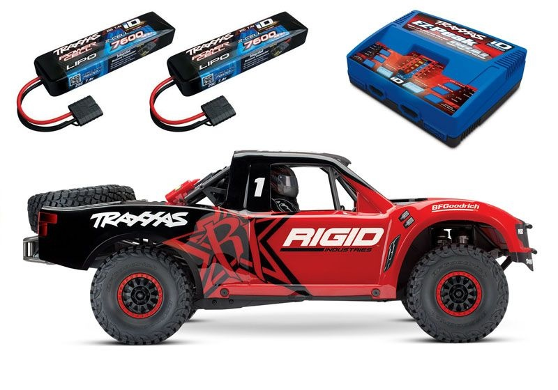 Unlimited Desert Racer Pro-Scale 4x4 Racing Truck in rot