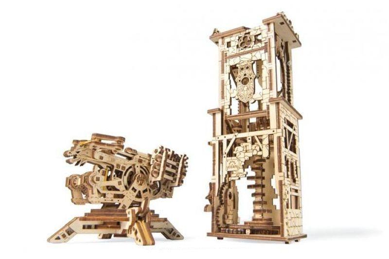 Turmbalista - mechanischer 3D Holzbausatz