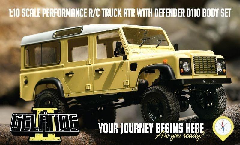 Gelande II LWB 4WD Truck mit D110 Karosserie Set 100% RTR