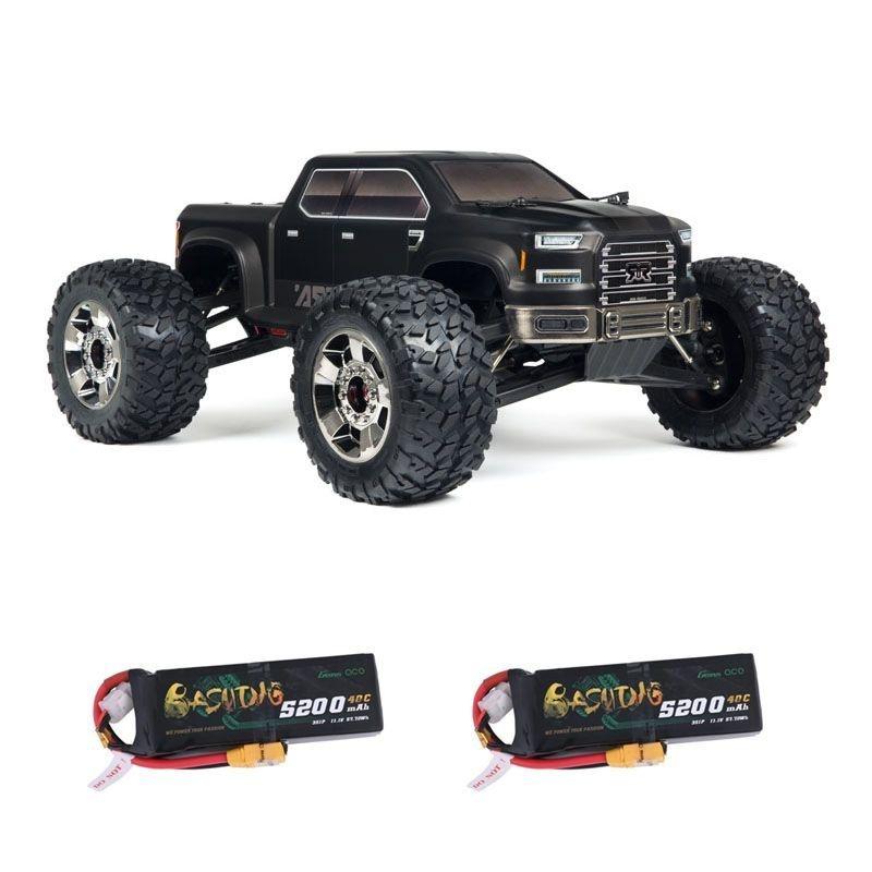 Nero Big Rock 6S BLX EDC 4WD MT 1/8 RTR + 2x3S LiPo Akku
