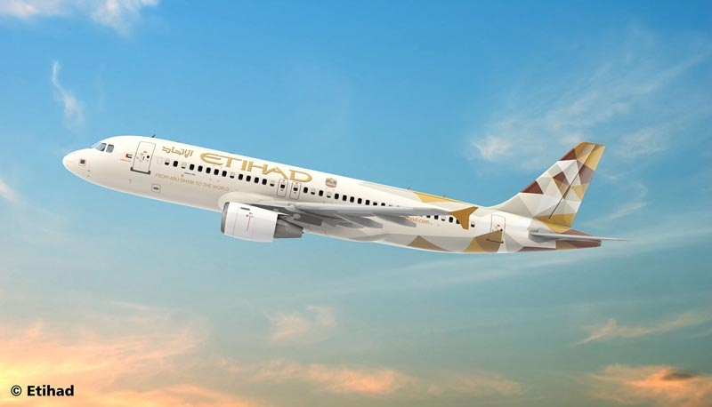 Airbus A320 ETIHAD AIRWAYS 1:144