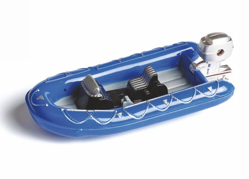 Schlauchboot Maßstab 1:25 (blau)