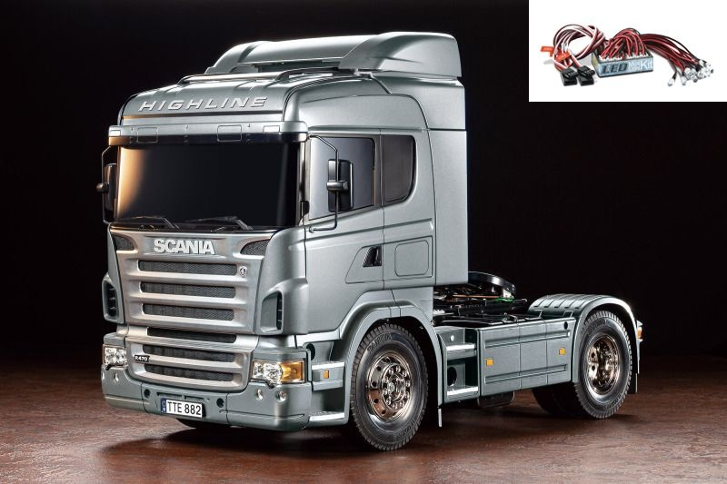 Scania R470 Silber Edition 1:14 Truck RC Bausatz + LED-Licht