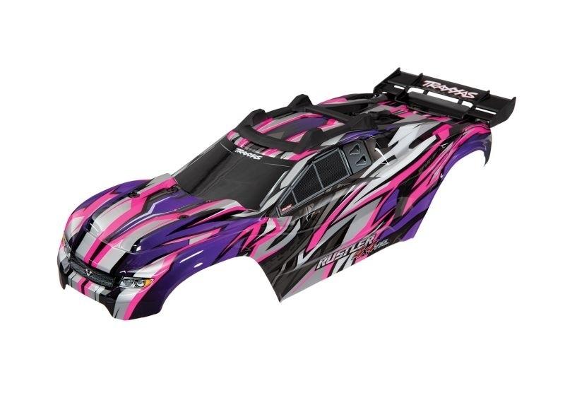 Karosserie pink für Rustler 4x4 VXL, inkl. Karosseriehalter
