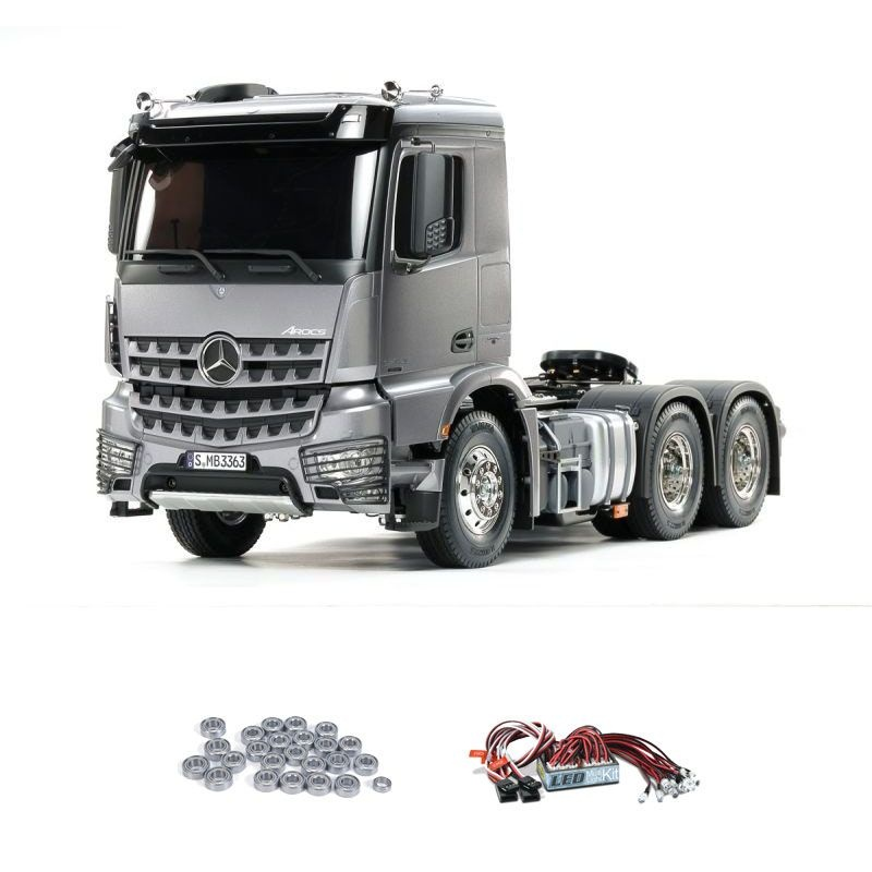 MB Arocs 3363 6x4 Truck 1/14 Light Gun Metall mit LED, Lager