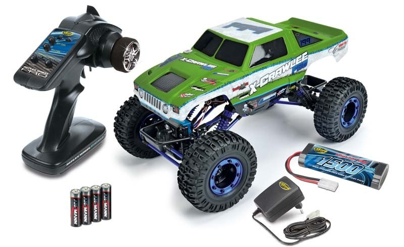 X-Crawlee XL 2.4GHz 100% RTR Green 1/10 4WD Crawler
