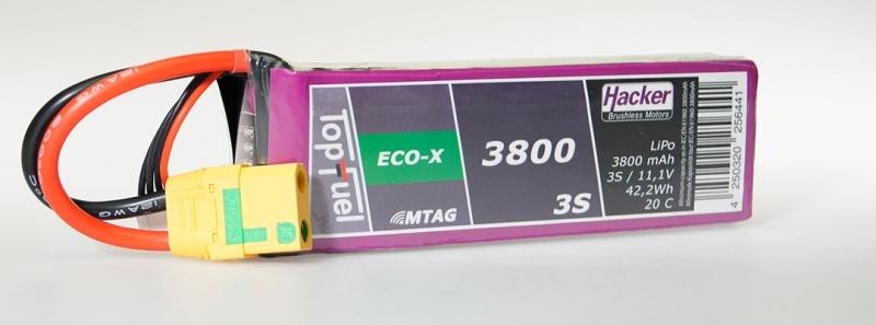 TopFuel LiPo Akku 20C Eco-X 3800mAh 3S MTAG, XT90