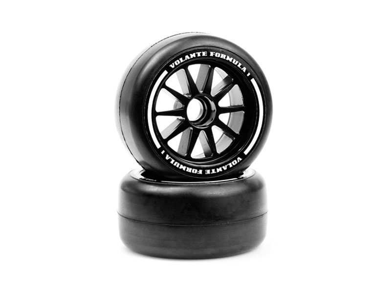 F1 Front Rubber Slick Tires Soft Compound verklebt, 2 Stück