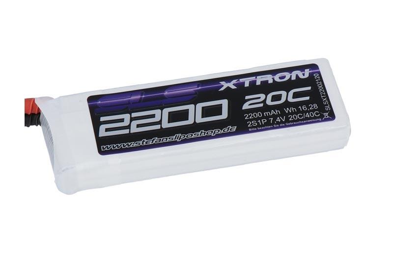XTRON LiPo Akku 2200mAh 2S1P 7,4V 20C/40C