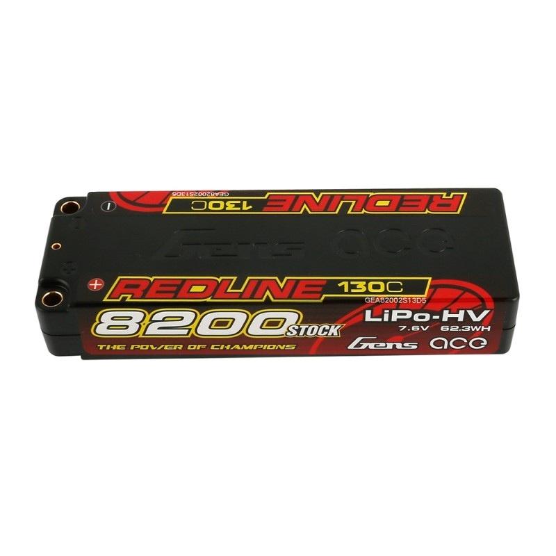 HV LiPo Akku 8200mAh 2S 7.6V 130C Hardcase, 5mm Bullet