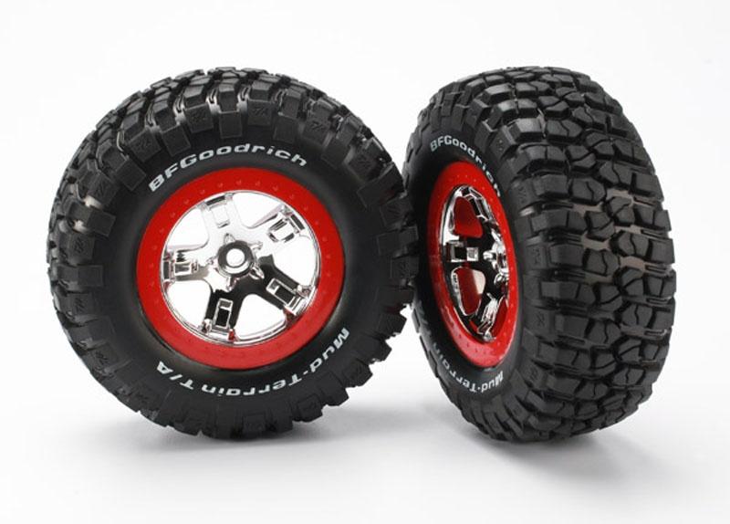 Reifen+Felge montiert Slash hi 4x4 vo/hi rot/chrome