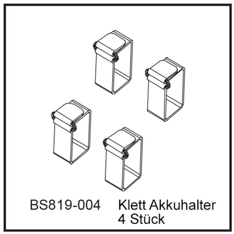 Klett Akkuhalter (4 Stück) - BEAST BX / TX