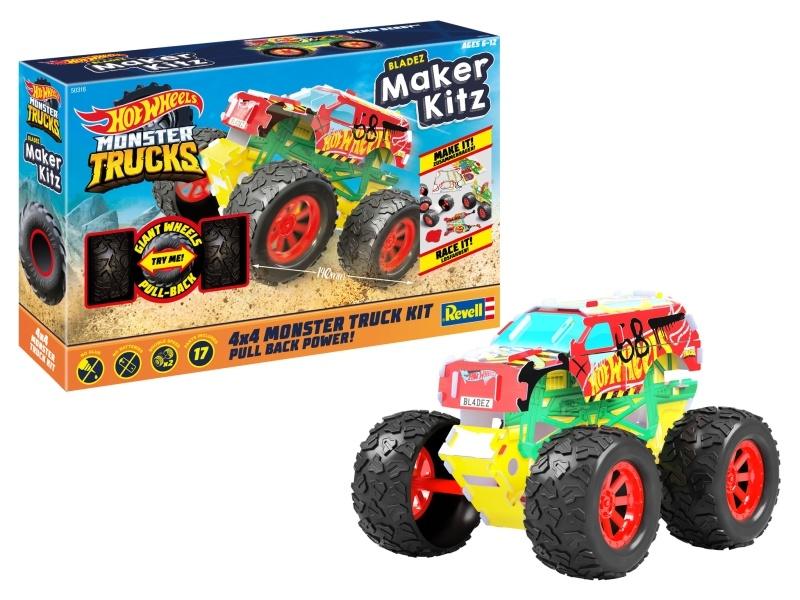 HOT WHEELS Maker Kitz Monster Truck Demo Derby