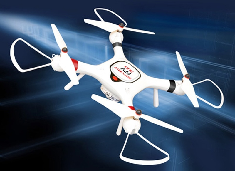 Spyrit FPV 3.0 GPS Quadrocopter mit Kamera 2,4GHz RTF, weiß