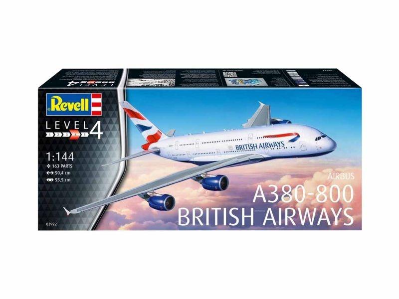 A380-800 British Airways Flugzeug Plastik Bausatz 1:144