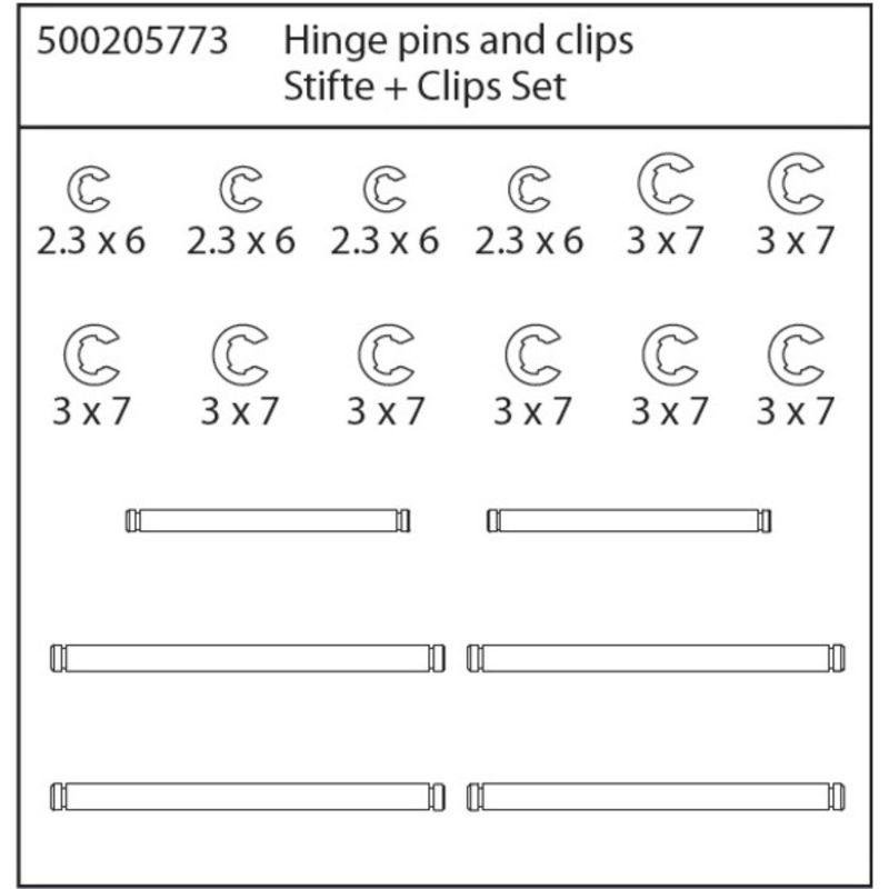 X8 Specter Stifte und Clips Set