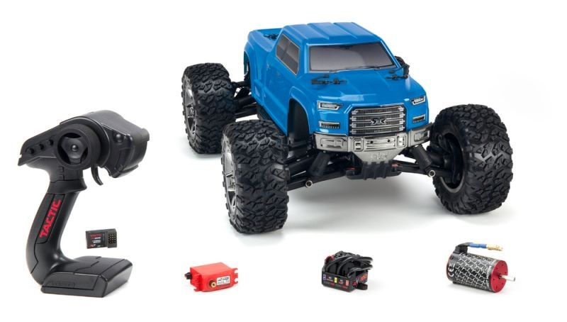 Big Rock Crew Cab 4x4 BLX 3S BL Monster Truck 1/10 RTR, blau