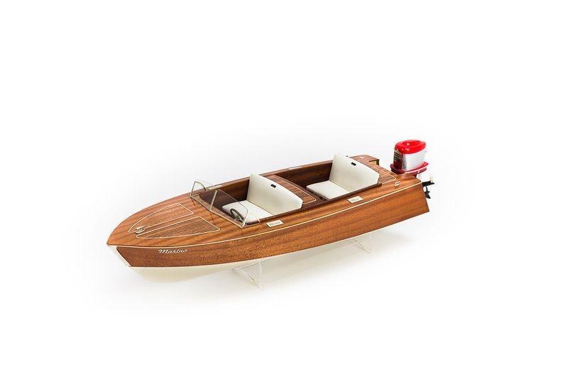 Marina Freizeitboot RC Bausatz mit Mahagonifurnier