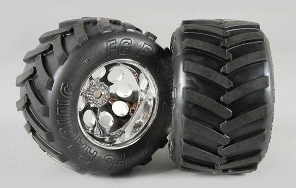 Monster-Truck Räder S 14mm verklebt 18mm Vierkannt