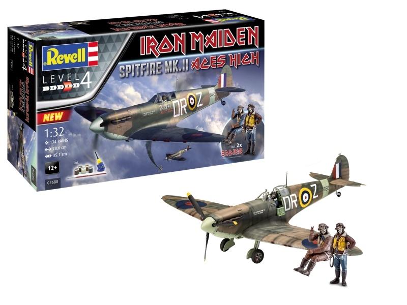 Spitfire MK.II Aces High Iron Maiden 1:32 Bausatz + Figuren