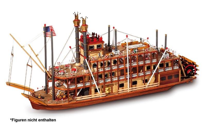Mississippi 1:80 Schiffsbausatz
