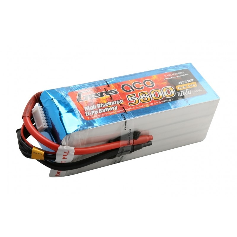 LiPo Akku 5800mAh 6S1P 22,2V 45C ohne Stecker