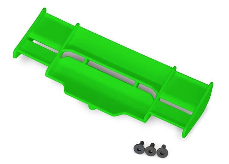 Heckflügel in grün für Rustler 4x4
