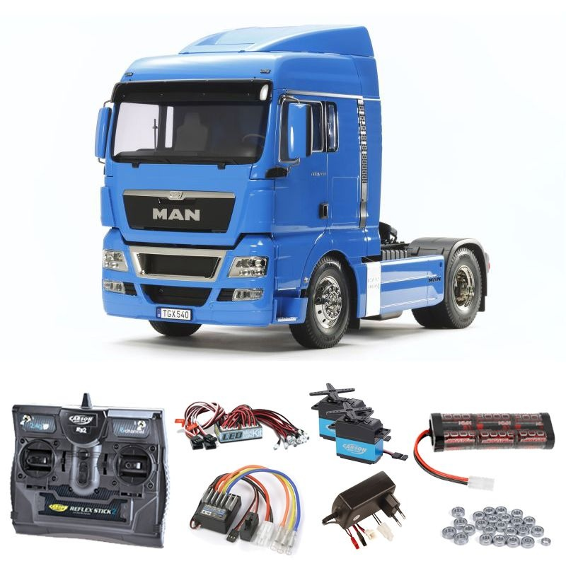 MAN TGX 18.540 4x2 XLX - French Blue Komplettset +LED, Lager