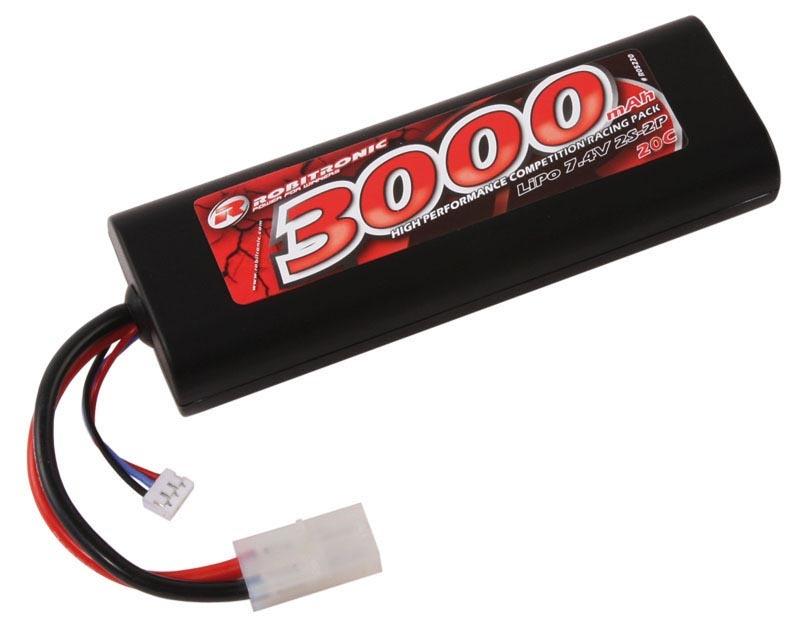 LiPo 7,4V 3000mAh 20C 2S Stick Pack