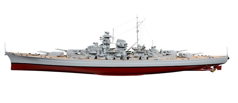 Bismarck Zerstörer Boot 1250mm inkl. Regler, Motor, Servo