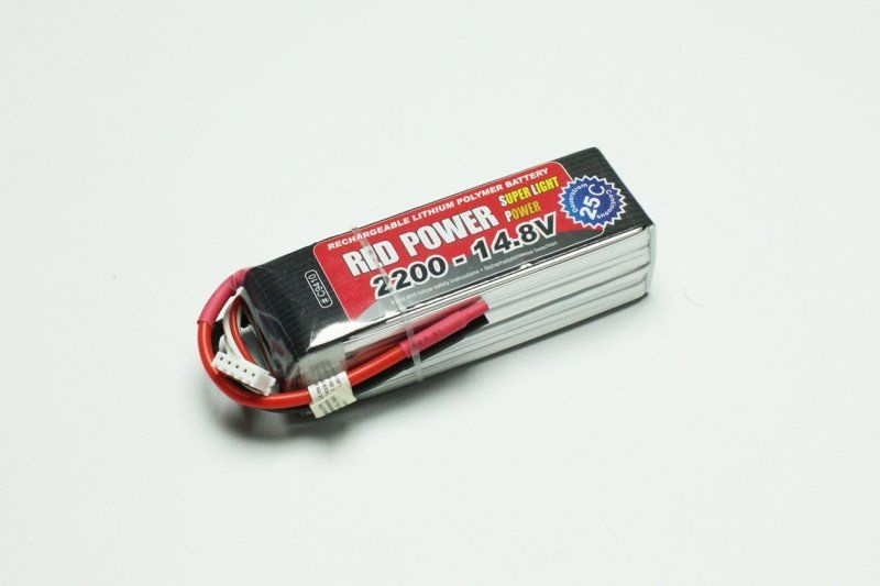 LiPo Akku RED POWER SLP 2200mAh 14,8V 4S 25C