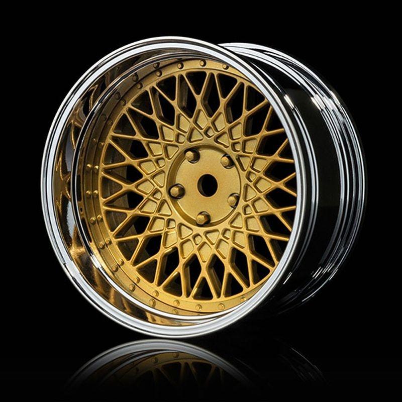 Mehrspeichenfelge, Offset einstellbar, chrom-gold (4)