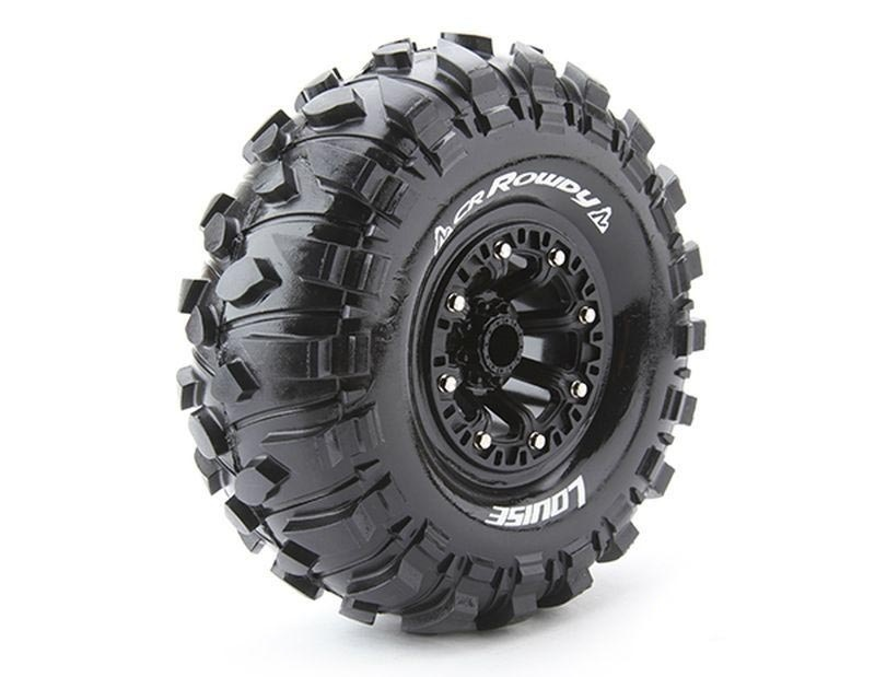 CR-ROWDY 2.2 supersoft Felge schwarz 12mm Crawler LOUISE