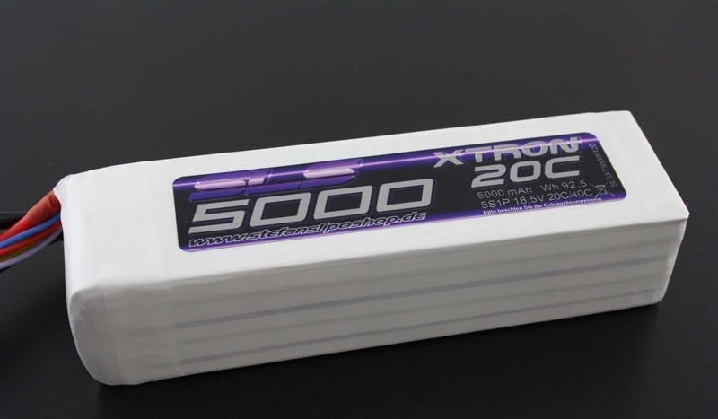 XTRON 5000mAh 5S1P 18,5V 20C/40C