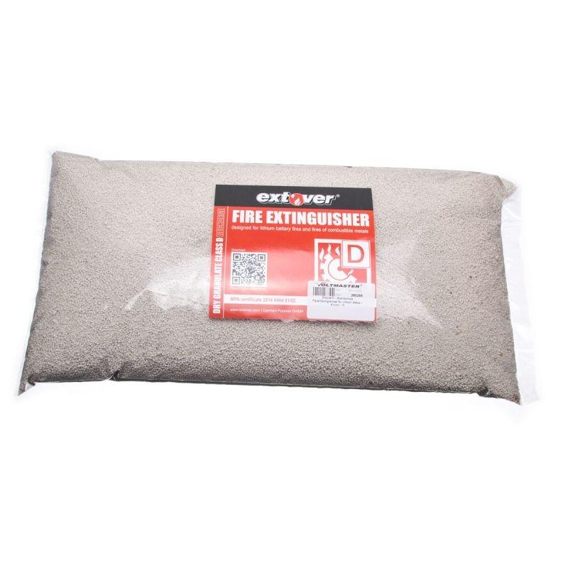 Brandschutz Feuerlöschgranulat für Lithium Akkus, Kissen 5L