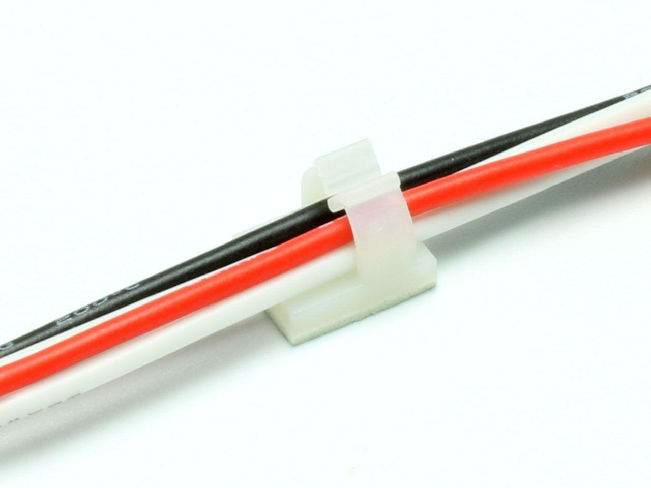 Mini Kabelhalter selbstklebend 6mm (10)
