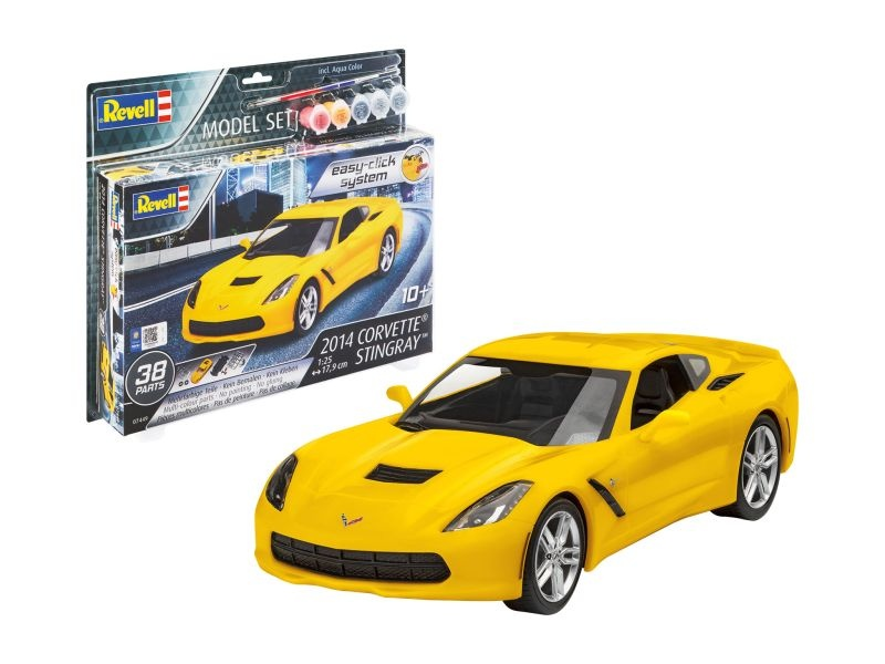 Model Set 2014 Corvette® Stingray + Farben und Pinsel 1:25