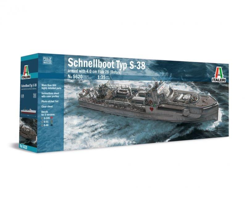 Schnellboot Typ S-38 /4.0cm Flak 28 Bausatz 1:35