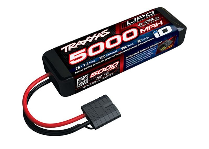 Power Cell LiPo Akku 5000mAh 2S 7,4V 25C iD-Stecker