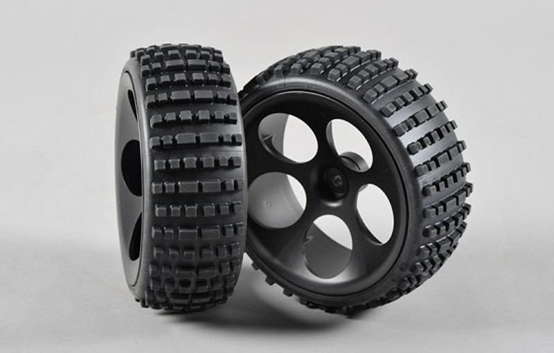 Off-Road Buggy-Räder S Schmal auf Felge schwarz, verklebt